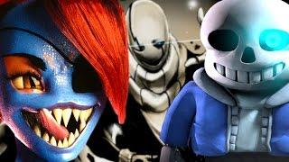 CRAZIEST 3D TRIPLE BOSS BATTLE VS UNDYNE SANS AND GASTER