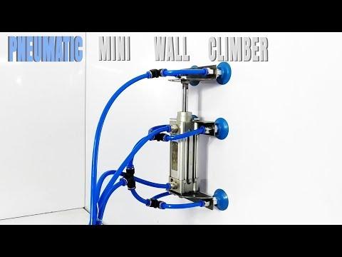 DIY Air Powered Mini Wall Climber Robot Mechanical Pneumatics Project