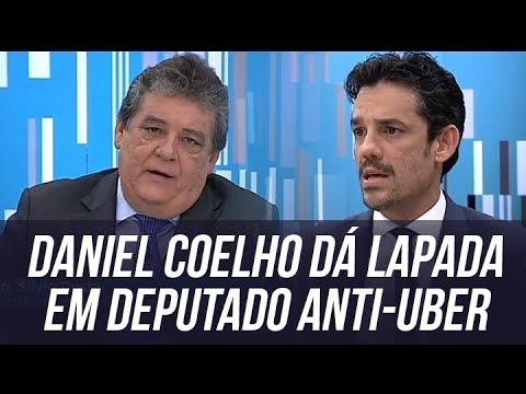 Daniel Coelho dá lapada em deputado anti-uber