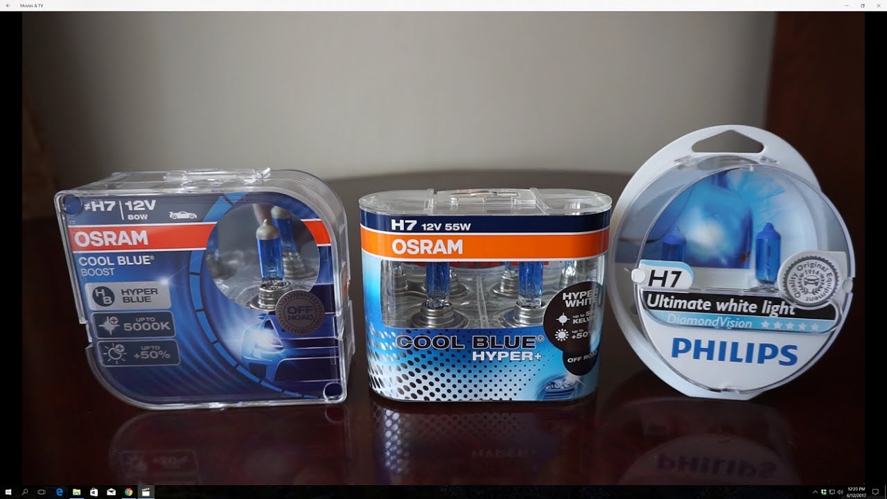 osram cool blue boost vs cool blue hyper vs philips. Black Bedroom Furniture Sets. Home Design Ideas