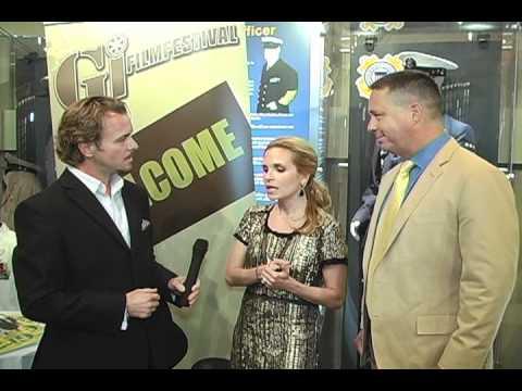Jeff with Brian McNamara, Sally Pressman Saluting Military Spouse Night
