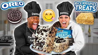 HOW TO COOK OREO RICE KRISPY TREATS  | COOKING WITH THE PRINCE FAMILY