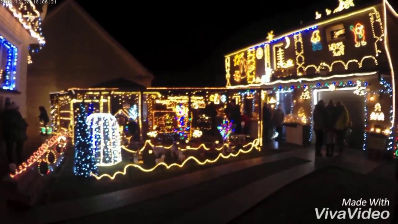 świąteczne Oświetlenie Domu W Krapkowicach
