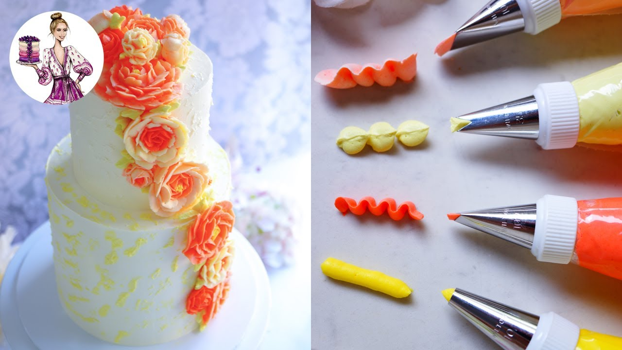 Make Perfect Buttercream Flowers Using Wilton Tip Nozzles | Floral Cake | Wedding Cake