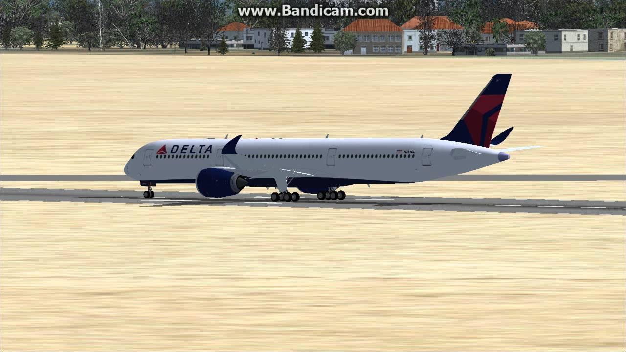 fsx AIRBUS A350 DELTA