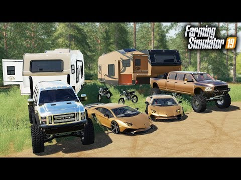 FS19- MILLIONAIRES GO LUXURY CAMPING! WITH A LAMBORGHINI & $90,000 RAM MEGA CAB, FORD SUPER SIX thumbnail