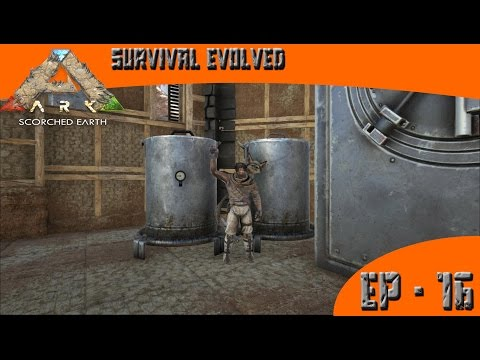 Ark Survival Evolved Water Works Scorched Earth Ep 16 Youtube