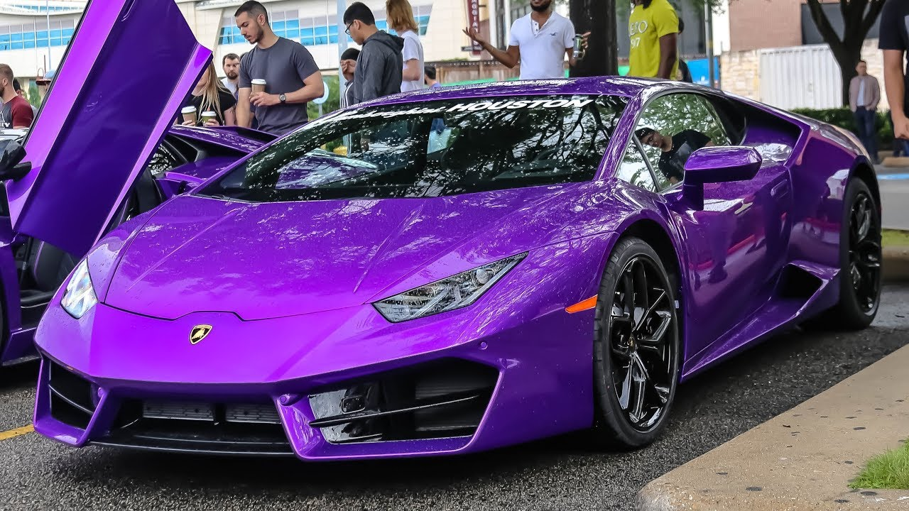 Purple Lamborghinis Lurking At Cars And Coffee Coffee And Cars