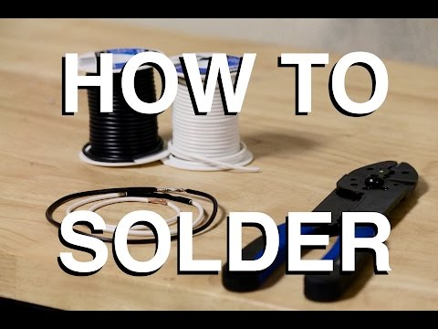 How to Solder Electrical Connections