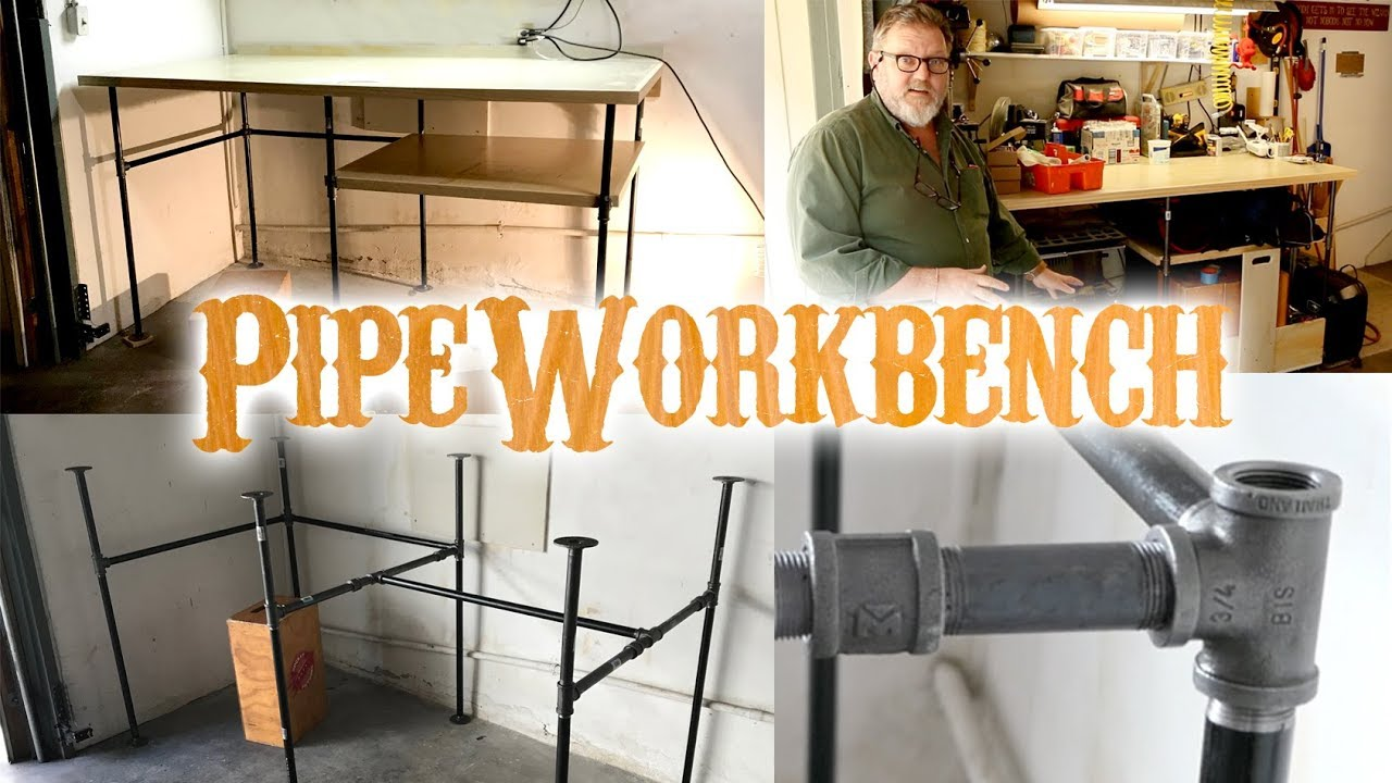 diy pipe workbench table how to youtube