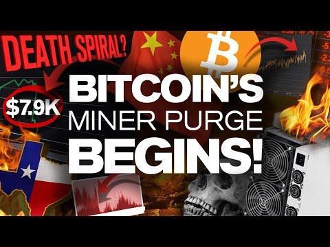 WARNING! Big DIP Soon!? Why? The BTC Miner Purge!