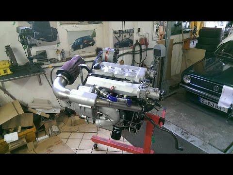 VW Golf 1 16VG65 Engine Start G-Brüder MK1 G60