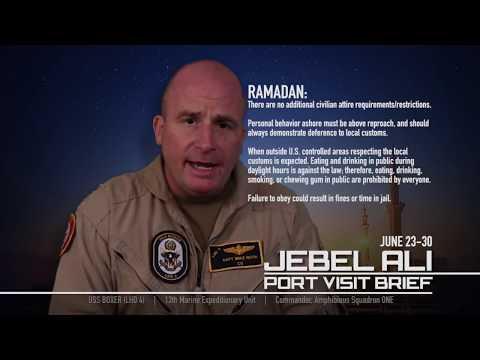 USS Boxer Deployment 2016 Dubai Liberty Port Brief