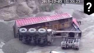 Deadly accident caught on video: Dump truck driver crushed by cargo - TomoNews