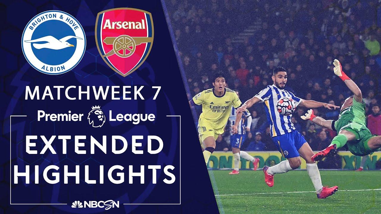 Brighton v. Arsenal | PREMIER LEAGUE HIGHLIGHTS | 10/2/2021 | NBC Sports