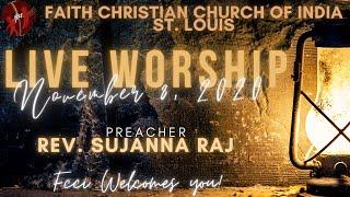 FCCIndia Live Worship 11/08/2020 | FCCI St. Louis
