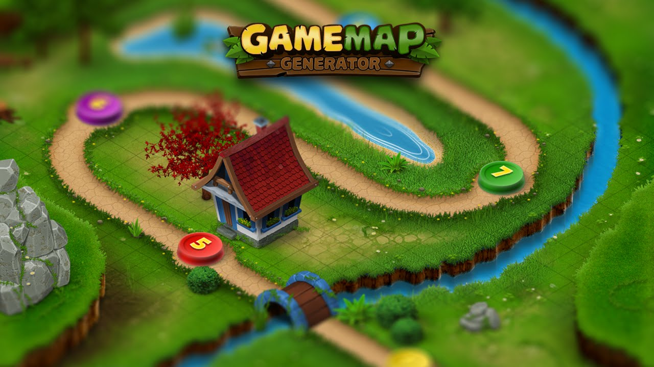 Game Map Generator - Features and workflow - Photoshop Plugin