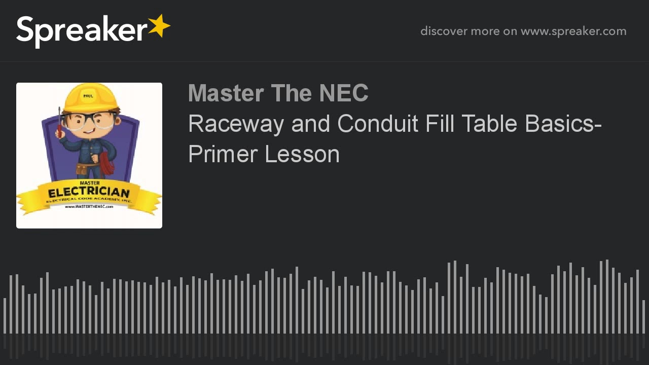 Raceway and conduit fill table basics primer lesson youtube raceway and conduit fill table basics primer lesson greentooth Choice Image