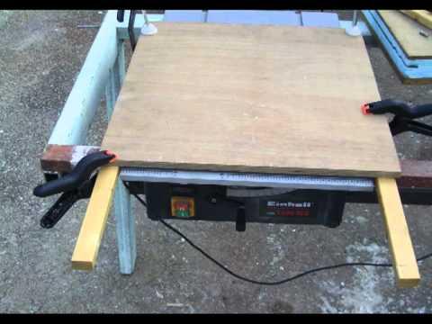 Gu a de madera para sierra circular 1 youtube - Sierra para cortar madera ...