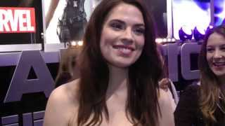 Ben mortimer interviews hayley atwell who plays peggy carter at the uk premiere of captain america winter soldier.for syndication or usage opportunities ...