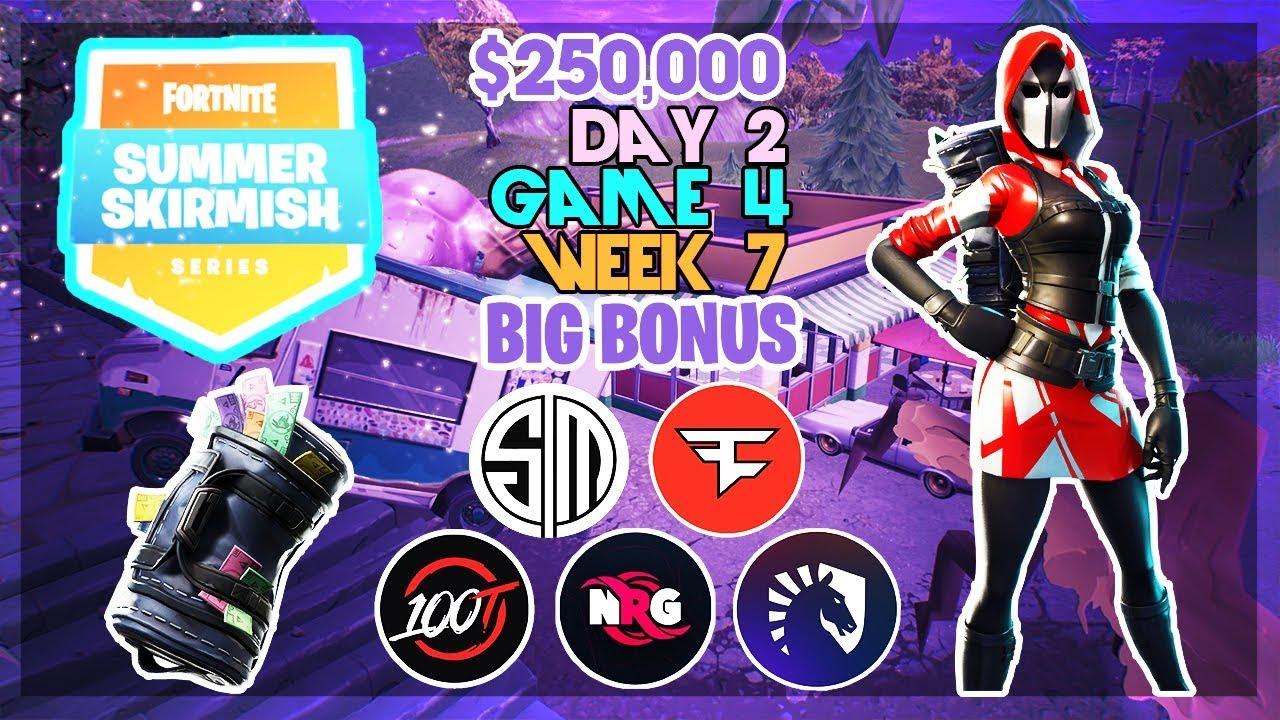 250 000 Big Bonus Summer Skirmish Week 7 Day 2 Game 4 Fortnite