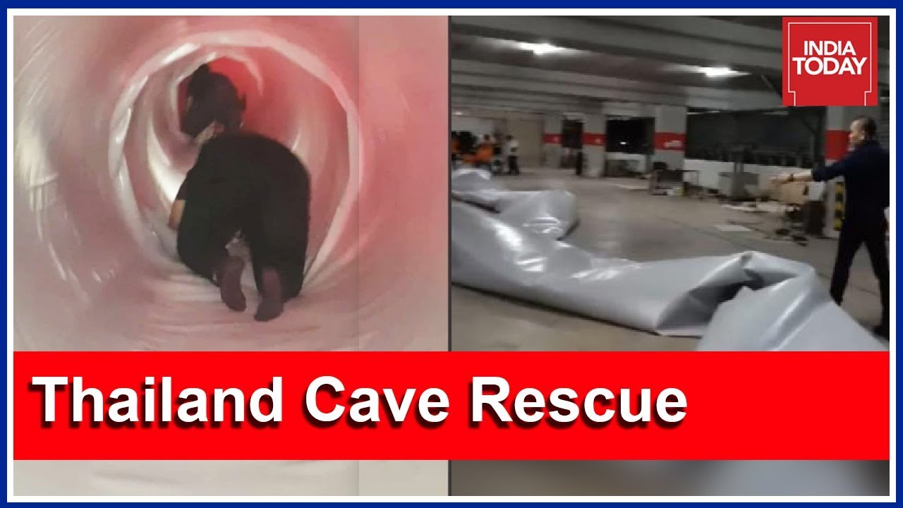 Thailand Cave Rescue : Construction Company Makes Giant Tube For Rescue Operations