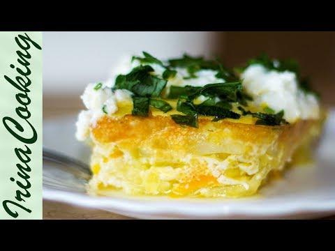 ЗАПЕКАНКА ИЗ КАБАЧКОВ В ДУХОВКЕ БЕЗ МУКИ | Zucchini and Cheese Baked Pudding