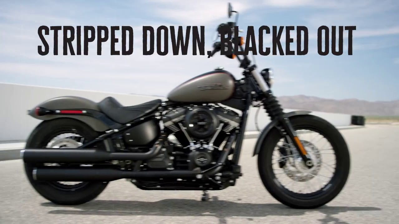 Custom Harley Street Bob >> The All-New 2018 Harley-Davidson Street Bob - Harley-Davidson - YouTube