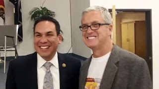 CONGRESSMAN PETE AGUILAR ASKED ABOUT HIS PRO ILLEGAL ALIEN POLICIES AT HIS OWN JOB FAIR.
