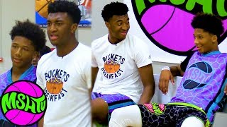 Mikey Williams vs Kyree Walker Dunk Off  - 1 on 1 Game Breaks Out After