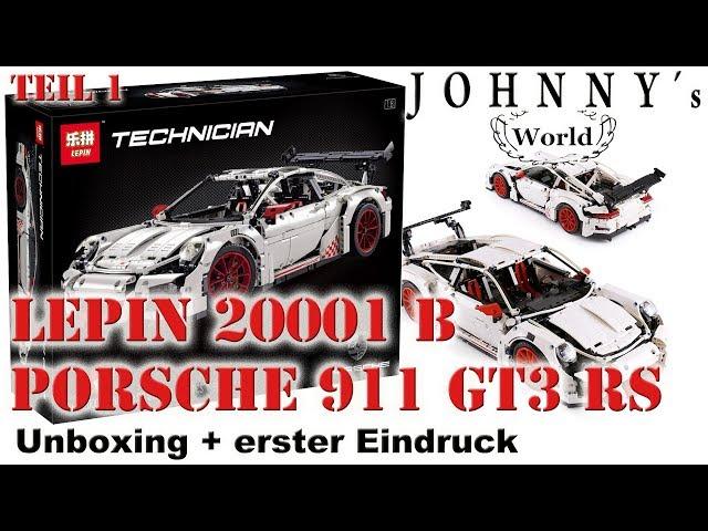 Lepin 20001 B - Fake-Lego Porsche 911 GT3 RS - Unboxing + erster Eindruck Review auf Deutsch