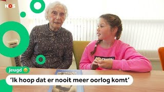 Oma (94) vertelt in klas over haar tijd in een concentratiekamp