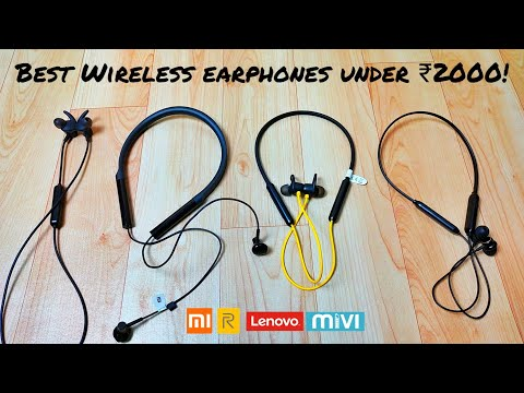 Top 5 BEST Bluetooth Earphones Under Rs 2000 In India | Realme Buds Wireless, Mivi Thunderbeats, Etc
