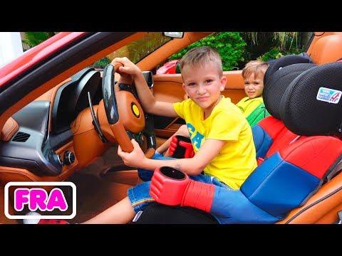 Nous sommes dans la voiture   Kids Story avec Vlad et Nikita