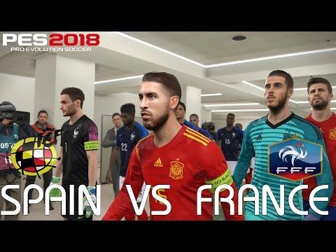 PES 2018 (PC) Spain v France @ Wanda Metropolitano | 2018 FIFA World Cup Jerseys | 1080P 60FPS