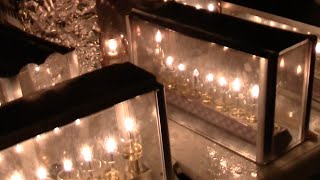 Enchanting Hanukkah Candles In Jerusalem Streets