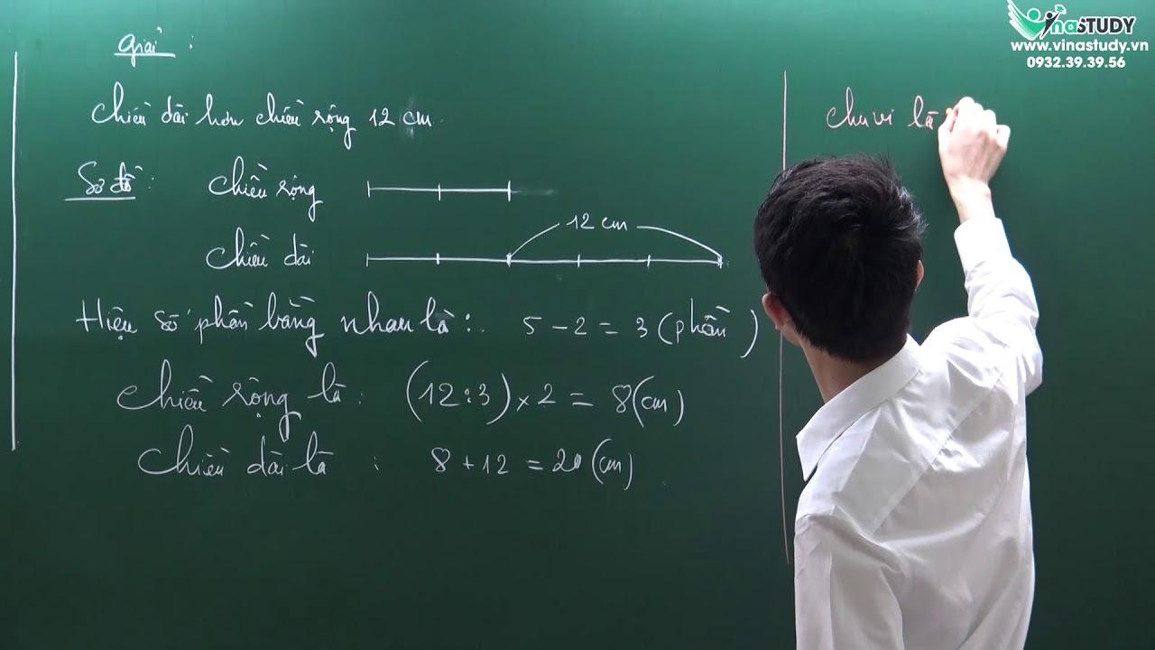 [Toán nâng cao lớp 4] – Bài toán tìm hai số khi biết hiệu và tỉ số của hai số đó