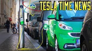 Tesla Time News - Lamp Post EV Chargers