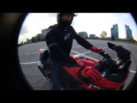 Learn to ride a motorcycle ninja 250 in 20 min