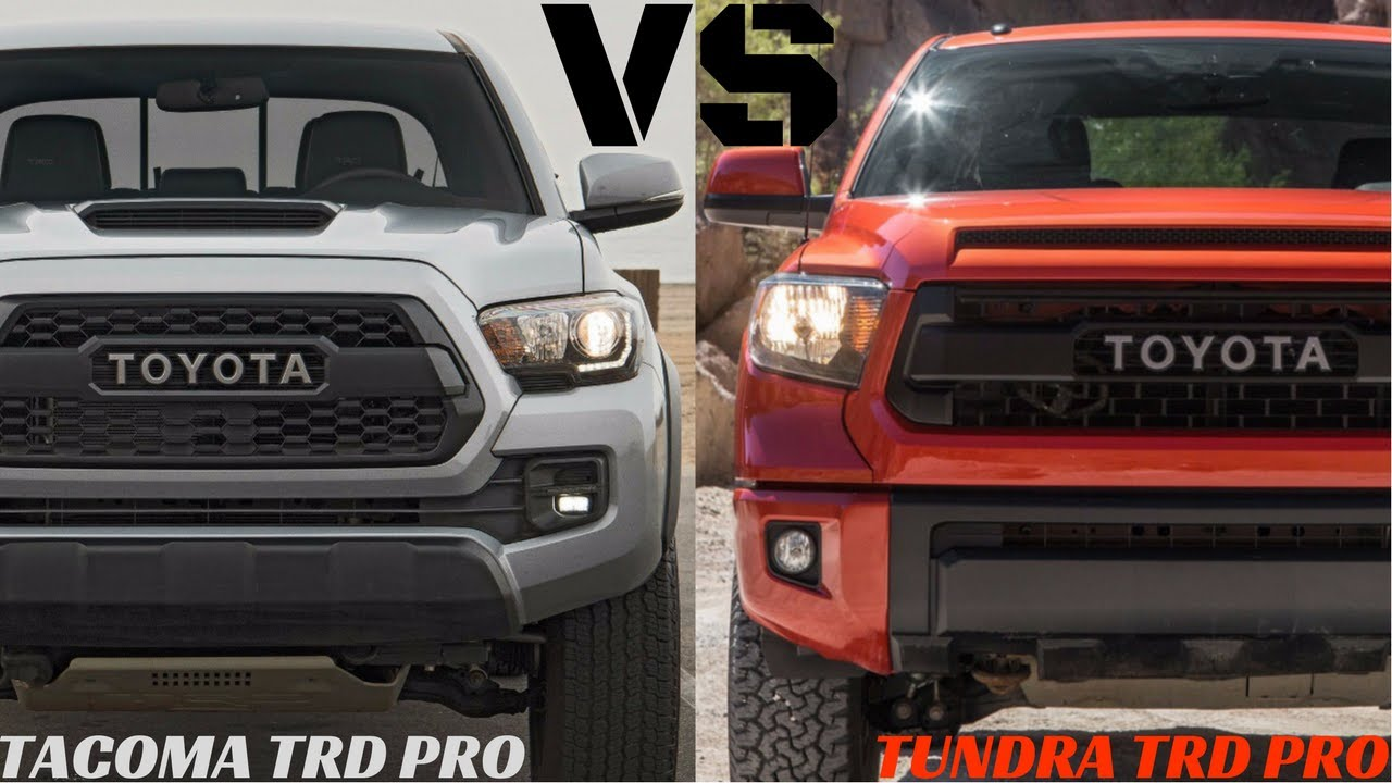 TOYOTA TUNDRA TRD PRO VS TOYOTA TACOMA TRD PRO ! EVERYTHING YOU WANT TO KNOW