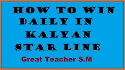 how to win daily  in kalyan star line satta matka gambling bazaar by Great Teacher S.M