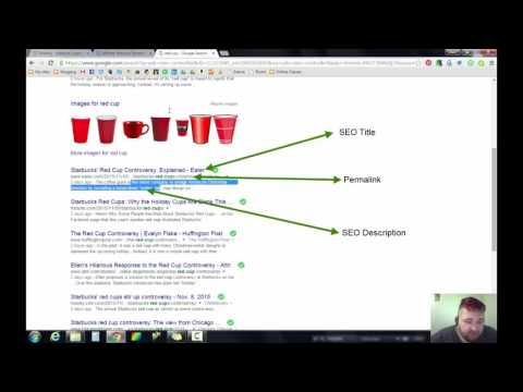 How to edit the Permalink and SEO Title/Description using the Weebly platform.