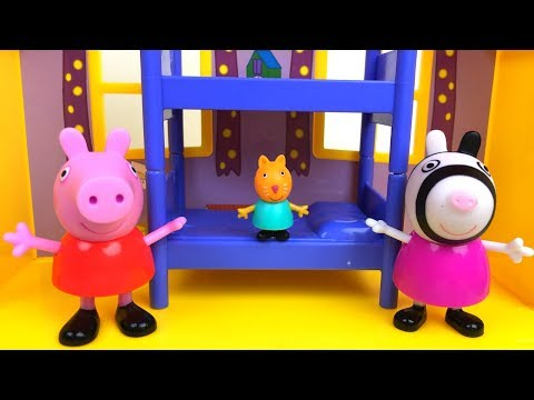 PEPPA PIG'S BIRTHDAY PARTY FRIENDS - STORY WITH CANDY CAT ZOE ZEBRA REBECCA RABBIT & GEORE PIG PART2