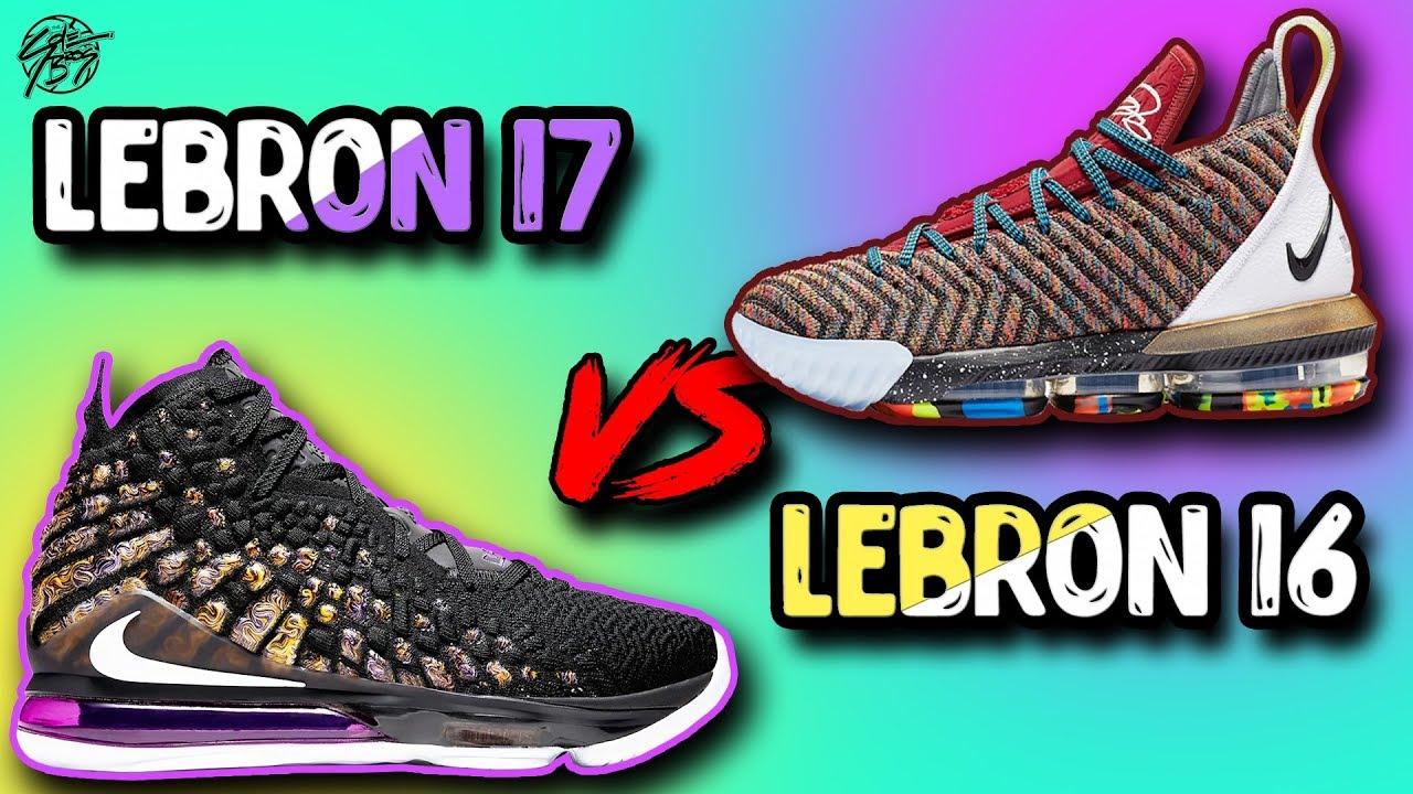 Nike Lebron 17 vs Nike Lebron 16! - YouTube