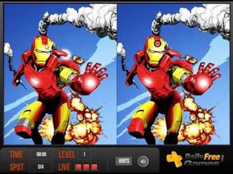 เกมส์ เกมส์จับผิดภาพ Avengers Spot Difference