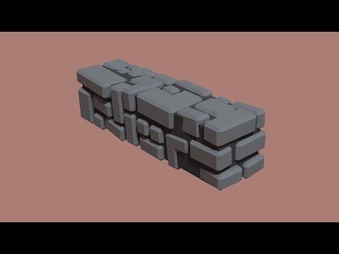 low poly stone brick speed model youtube. Black Bedroom Furniture Sets. Home Design Ideas