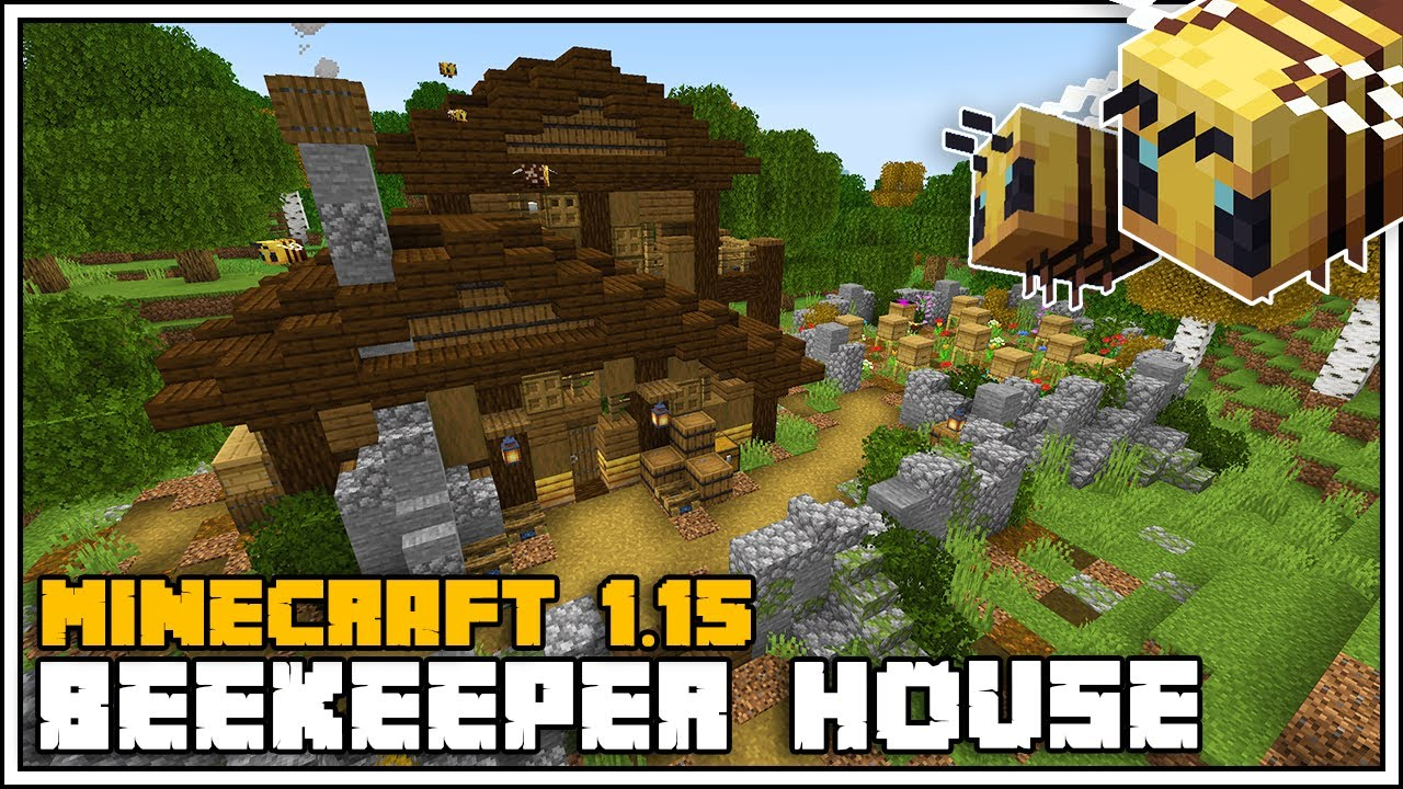 How to Build a Beekeeper House in Minecraft 1 15 [Minecraft House Tutorial]