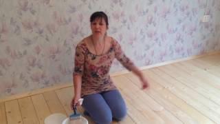 Чем покрасить  пол в деревянном доме(Чем покрасить пол в деревянном доме, чтобы без запаха и надолго? Как правильно красить деревянный пол., 2016-05-11T15:26:31.000Z)