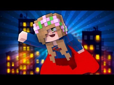 LITTLE KELLY IS WONDERWOMAN   Minecraft Superhero BedWars