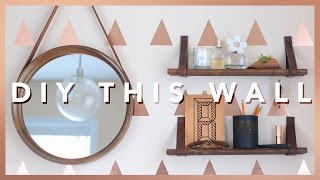 EASY DIY ACCENT WALL & LEATHER STRAP SHELVES | THE SORRY GIRLS